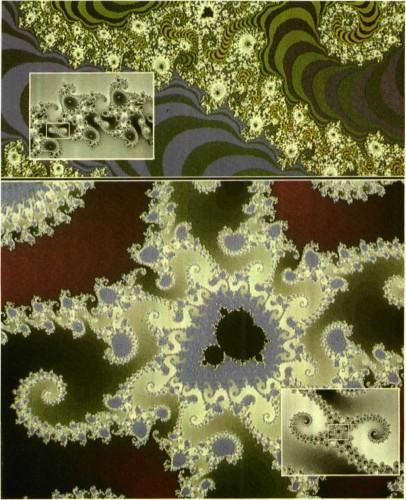 ״מפלצות מנדלברוט״, דוגמה למבנים פרקטלים בעלי דמיון עצמי גבוה.